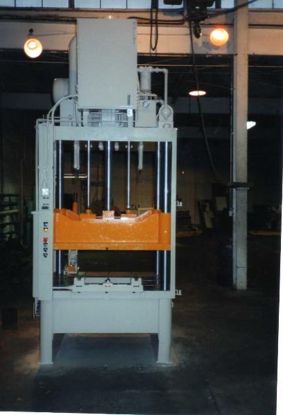 100 ton diecast trim press after remanufacturing