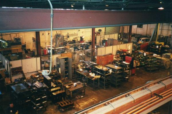 Plant overview of assembly and tool room areas